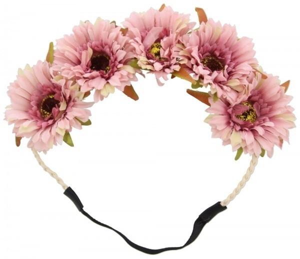 Flower headband  rose | Ibiza Haarband