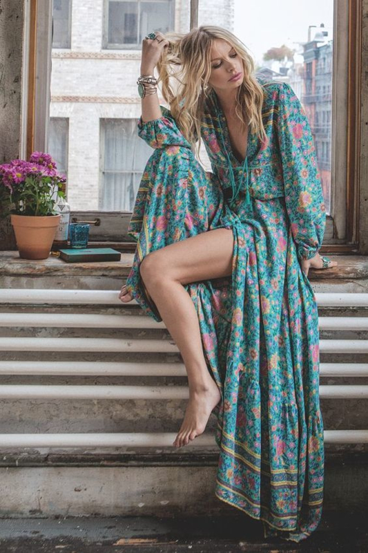 Bohemain Flower dress | Ibiza tuniek jurk