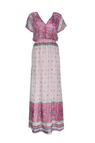 Bohemain Beach dress Pink | Ibiza tuniek jurk