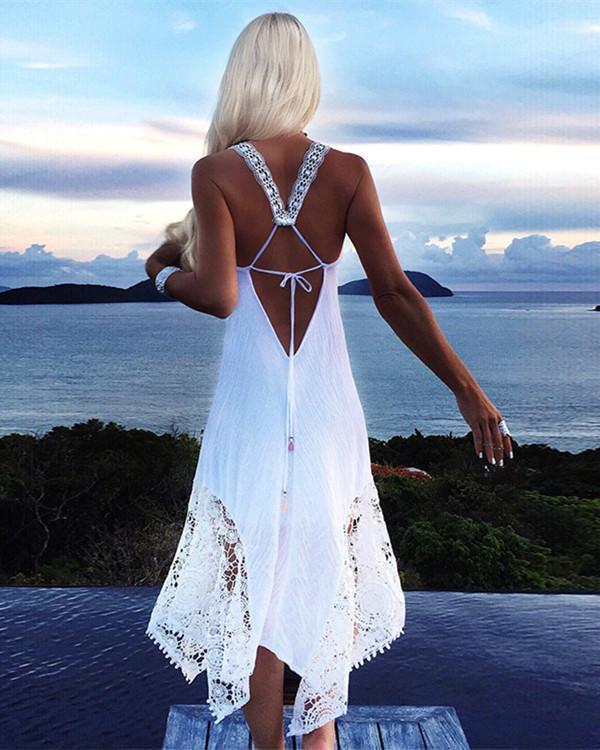 Bohemian Beach Dress   Ibiza jurk