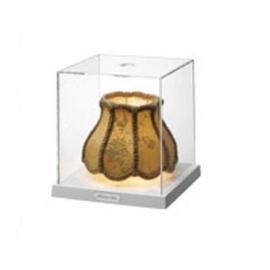Tafellamp in glazen kistje, TVG