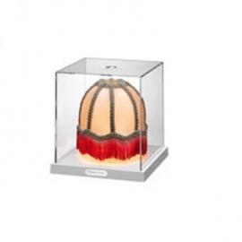 Tafellamp in glazen kistje, TRC