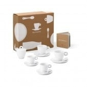Illy Collection-kop en schotels lepels en suikerpot