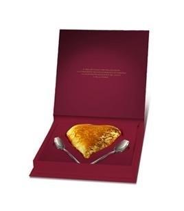 giftbox hart met twee lepels 300 gr Gianduja chocolade
