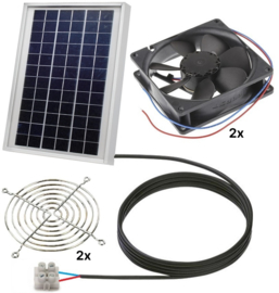 Ventilator op zonne-energie duo