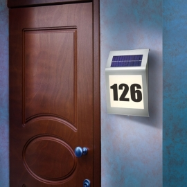 Solar huisnummer edelstaal