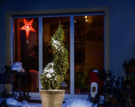 Kerstverlichting LED op zonne-energie 48 wit/warmwit