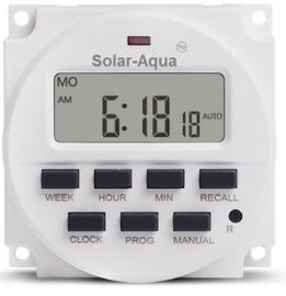 Tijdschakelaar  12v zonne-energie