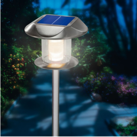 Solar buitenlamp design RVS