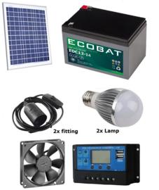 Solar verlichtingsysteem Tuinhuis