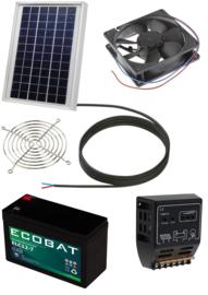 Ventilator op zonne-energie met accu