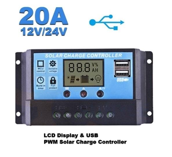 Solar-Aqua laadregelaar 20A USB
