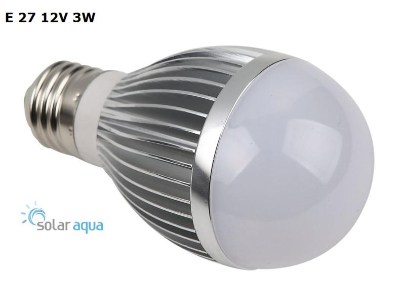 LED lamp 12V 3W. E27 2 stuks