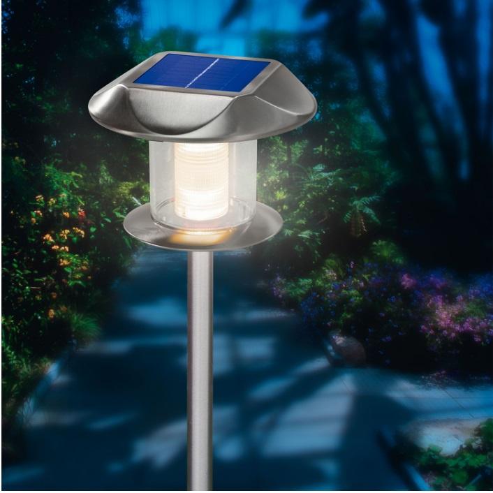 Solar buitenlamp design RVS