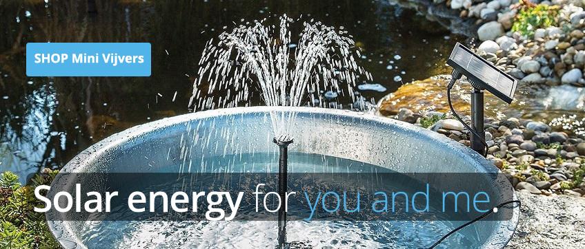 Minivijver met fontein zonne-energie