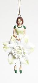 Bloemenmeisje Clematis wit