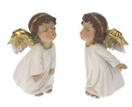Kussende engeltjes (set van 2)