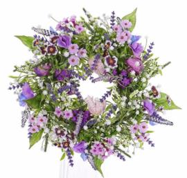 Zijdebloemenkrans lila/paars