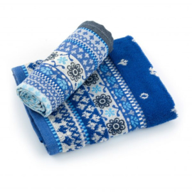 Theedoek & Handdoek set Bunzlau Castle Fresh Royal Blue