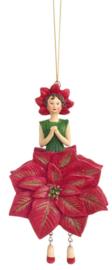 Bloemenmeisje Kerstster rood
