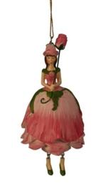 Bloemenmeisje Roos  roze