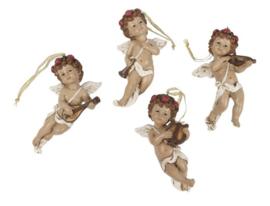 Set van 4 engeltjes