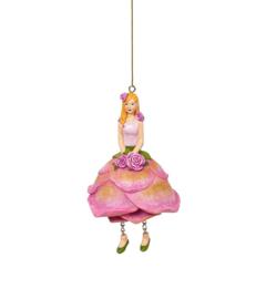 Bloemenmeisje Rozenmeisje roze