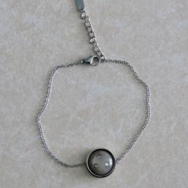 Armband crystal grijs