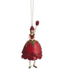 Bloemenmeisje Roos Rood