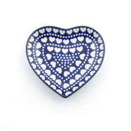 Schaaltje hart vorm Blue Valentine