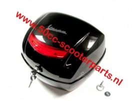 Topkoffer Vespa Lx zonder drager Zwart 98/A  orig 6221840XN2