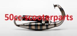 Uitlaat Yasuni Carrera C16 Alu Piaggio 2T - Tub428 41313