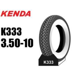 3.50-10 buitenband White Wall Kenda K333 1500