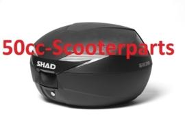 Topkoffer + slede afneembaar 39 LTR  zwart Shad 122255