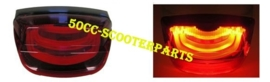 Achterlicht Vespa Lx S Lxv Audi led tube zwarte rand 15VE655