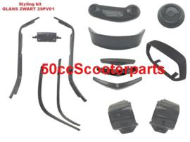 Stylingkit  Vespa Sprint Glans Zwart 29PV01