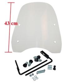 Windscherm + Bevestigingsset Baotian Speedy Peugeot V-Clic 61549