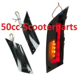 Knipperlichten led tube rood streep Piaggio Zip 2000 smoke achter DMP 37022