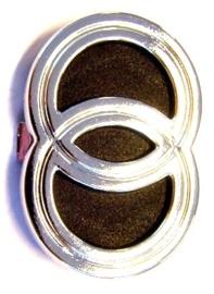 logo klik voorscherm gilera chroom/zwart piaggio origineel 573508