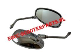 Spiegels Agm Bella Fosti retro scooter chrome 50QT-E-000101/2