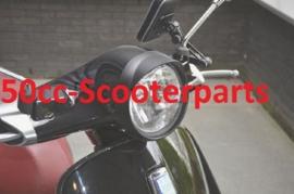 Koplamprand + luifel Vespa Primavera Mat Zwart DMP 42917