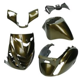 Kappenset 5 delig voor Piaggio Zip 2000 SP maronne brons 37704