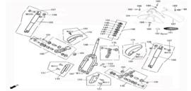 Borgmoer voorvork bovenkant agm bella fosti retro scooter - 50306-F8-9000