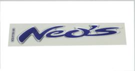 Sticker Yamaha woord [neo's] zijscherm Yamaha Neo's vanaf 2008 3d paars aluminium 5c2f178100