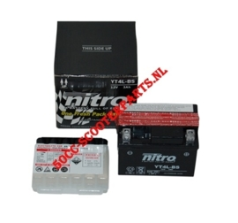 Accu GT4L-BS met zuur 37hv00