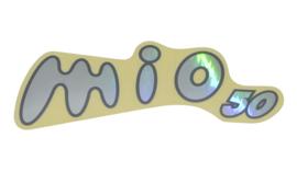 Sticker zijscherm woord Sym [mio50] chrome rechts origineel 87125-a7a-000