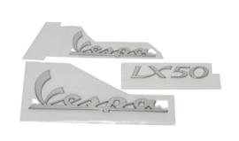 Stickerset Vespa Lx chrome compleet 42295