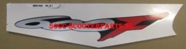 "Sticker  "" 600F "" Rechts achter Honda CBR 600F - 83618MBWN40ZA"