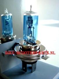 Lamp 12v 35-35W  Xenon look blauw licht h4-hs1-p43t 121957