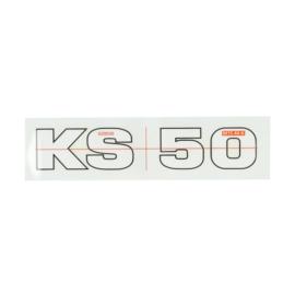 Sticker zundapp ks50 wit/ zwart 10010051
